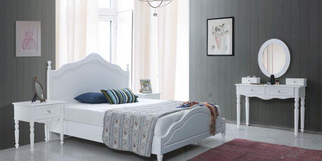 şık ve huzur veren yatak odası